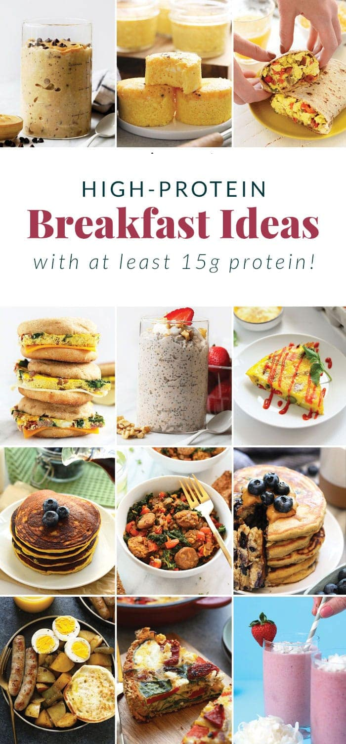 protein breakfast ideas pin