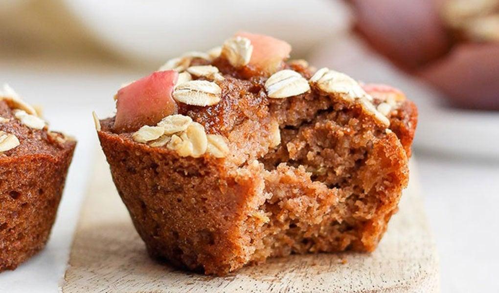 muffin on cutting board
