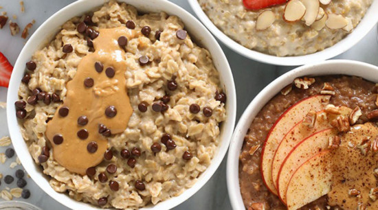 oatmeal in bowls ready to be enjoyed