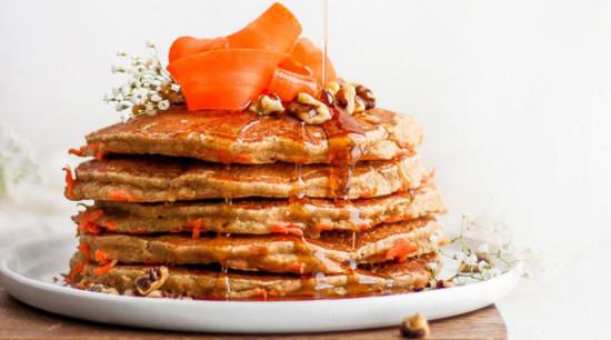 pancakes stacked high