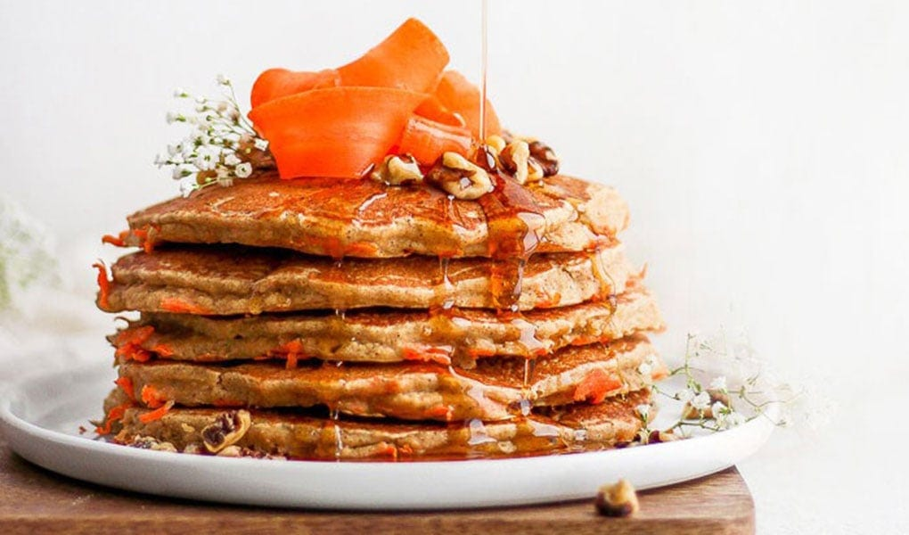 pancakes stacked high