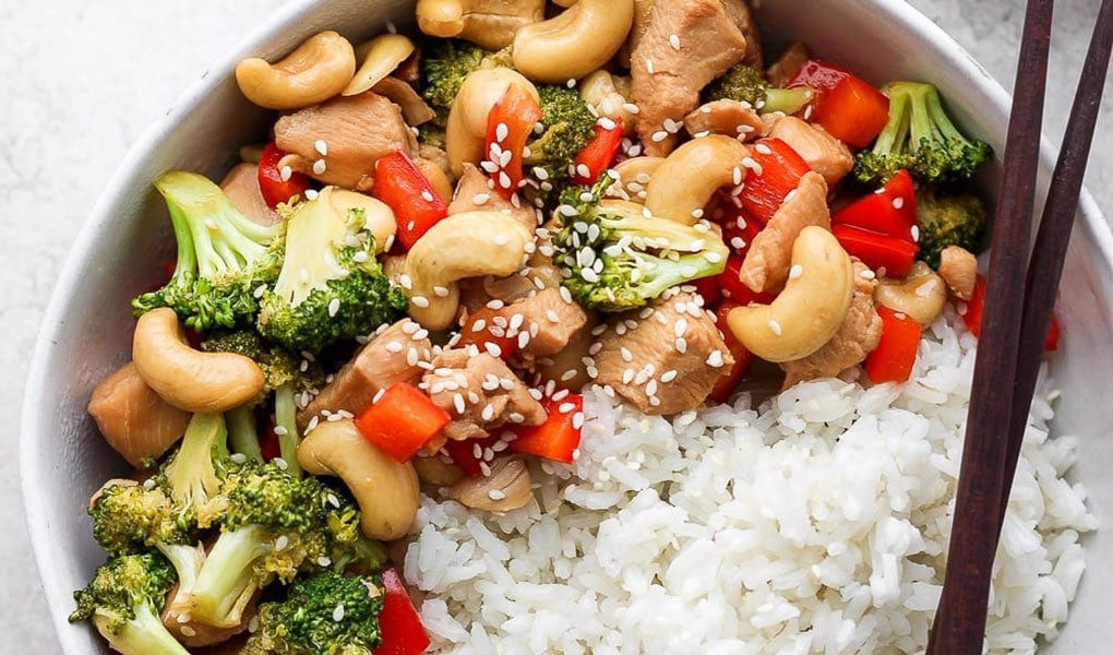 stir fry in bowl