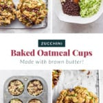 The process or making zucchini oatmeal cups