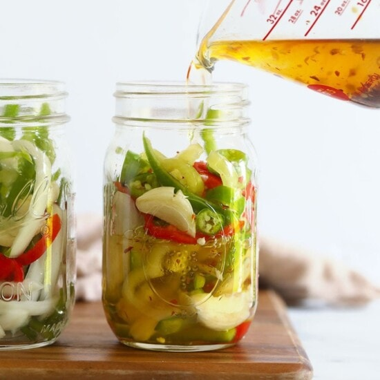 quick pickled spicy peppers