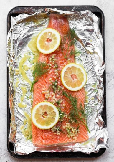 salmon in foil