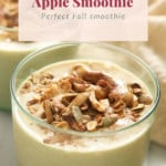 flavorful apple smoothie in a glass