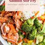 sheet pan salmon stir fry