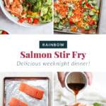 sheet pan salmon stir fry dinner