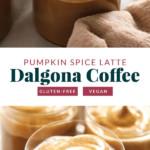 Dalgona coffee in mugs.