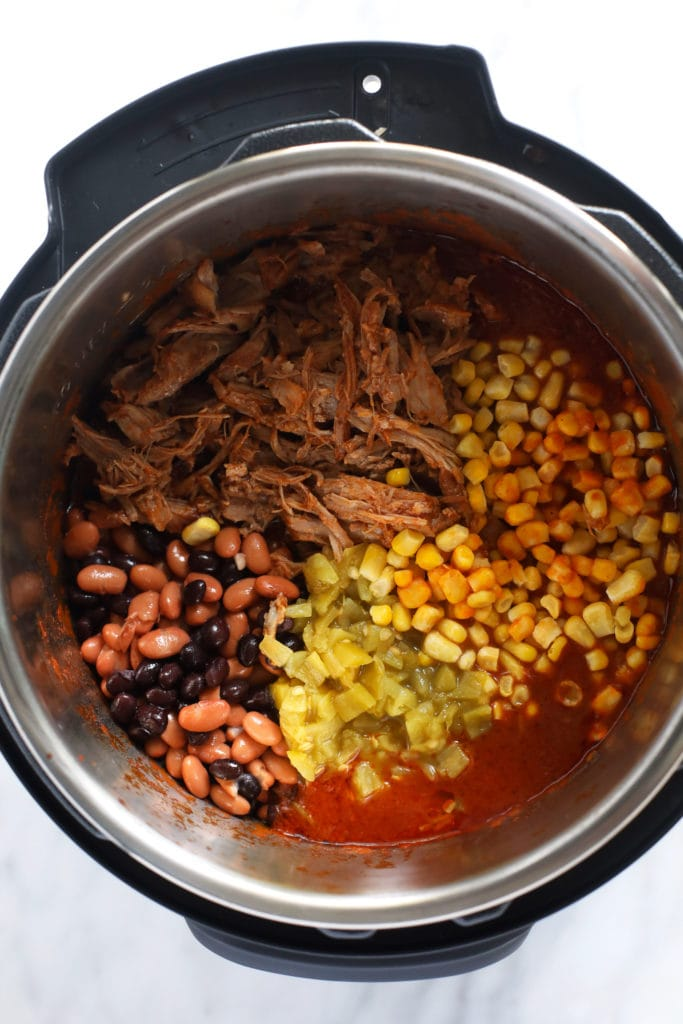 ingredients for pork chili instant pot in pressure cooker