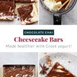 Chocolate Chai Cheesecake Bars
