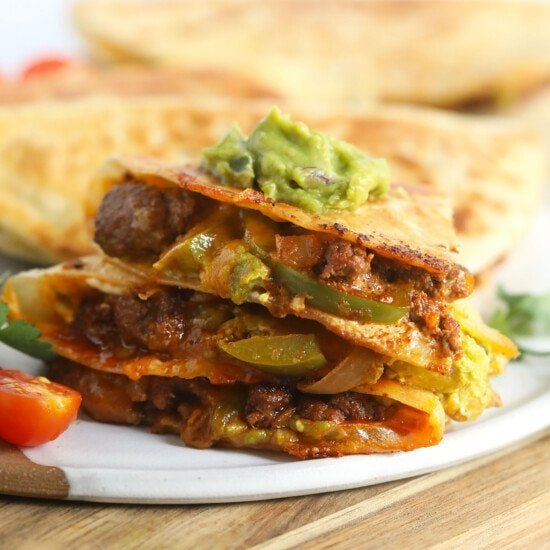 sliced quesadillas