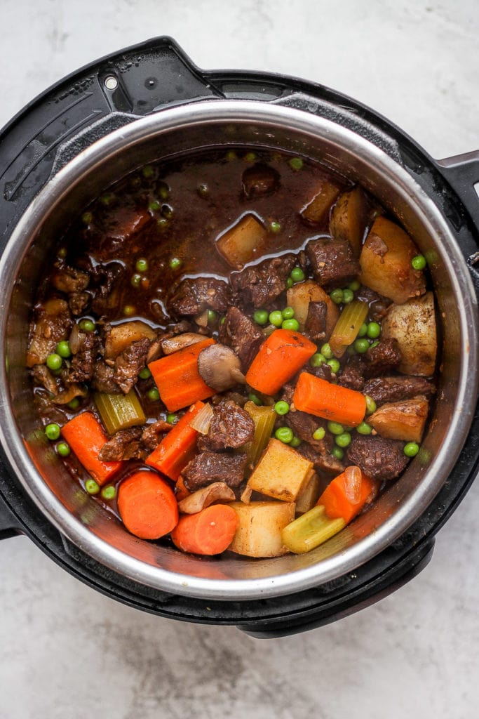 instant pot beef stew with vegetables