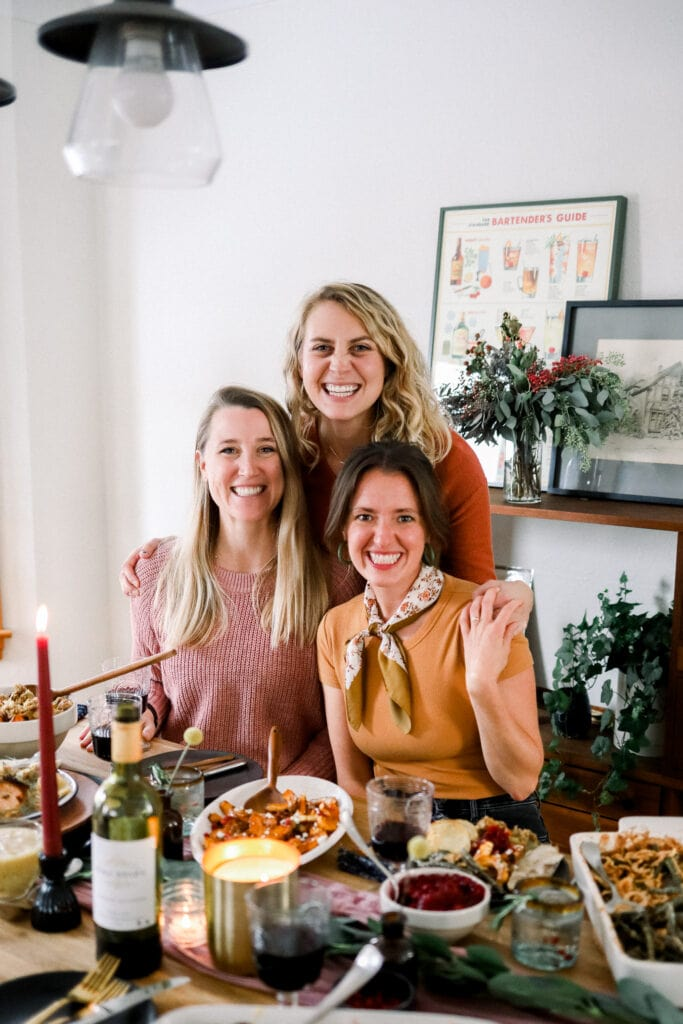 Team Fit Foodie at Thanksgiving table