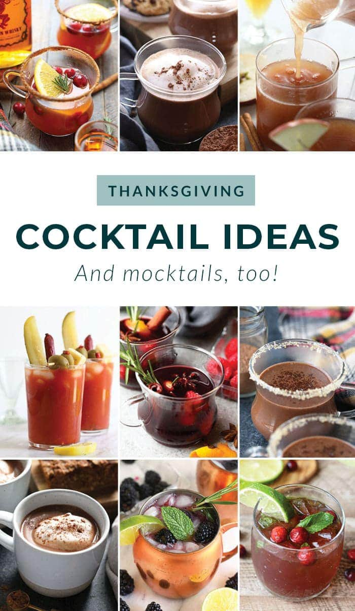 Festive Thanksgiving Cocktails Best Thanksgiving Drinks Fit Foodie Finds
