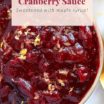 unique cranberry sauce recipe in bowl