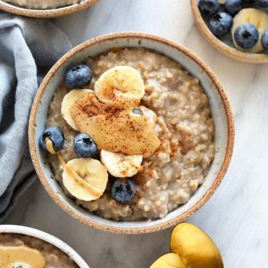 steel cut oats in bowl