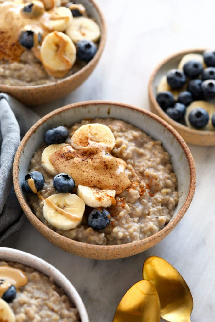 steel cut oats in bowl