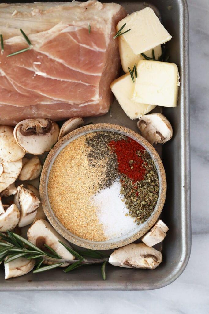 pork spices in bowl