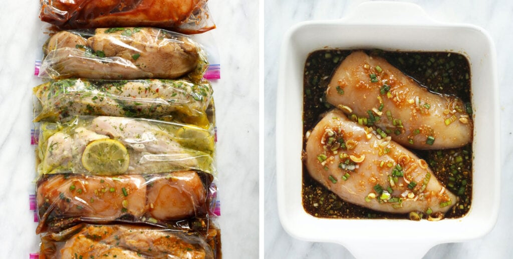 chicken marinades in bags
