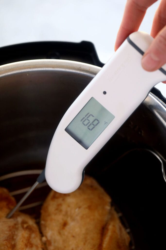 meat thermometer at 165ºF
