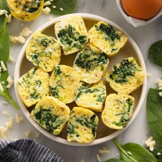 Instant Pot Egg Bites on a plate.