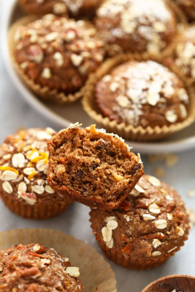 Baked morning glory muffins.