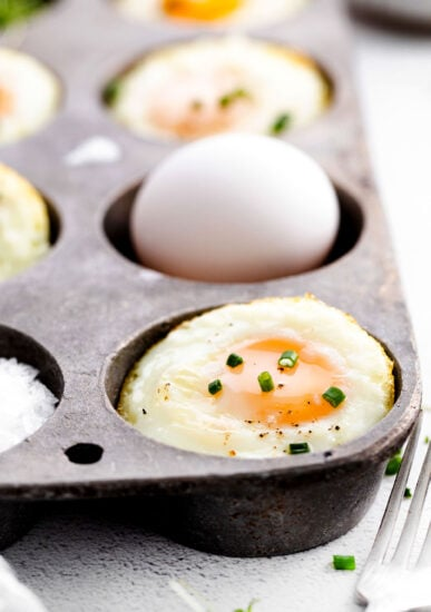 baked eggs in muffin tin