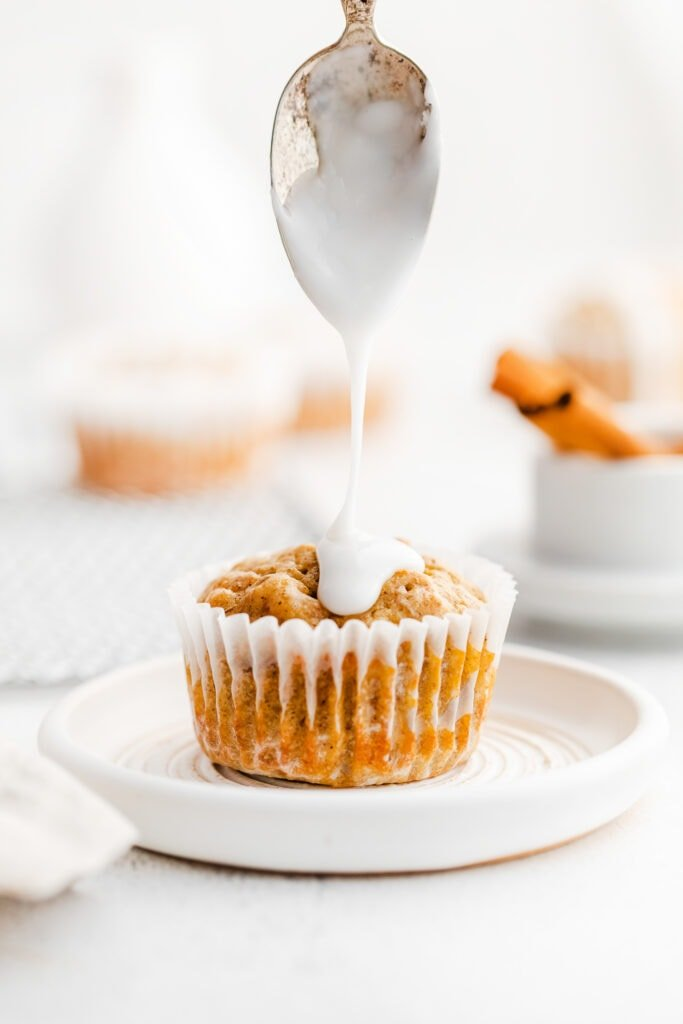carrot muffins with frosting