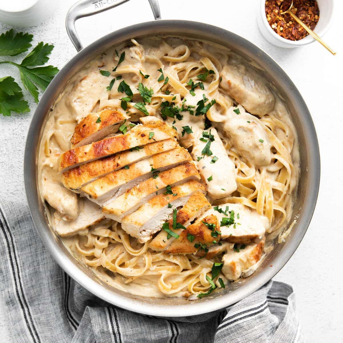 Easy Chicken Alfredo (ready in < an hour!) - Fit Foodie Finds