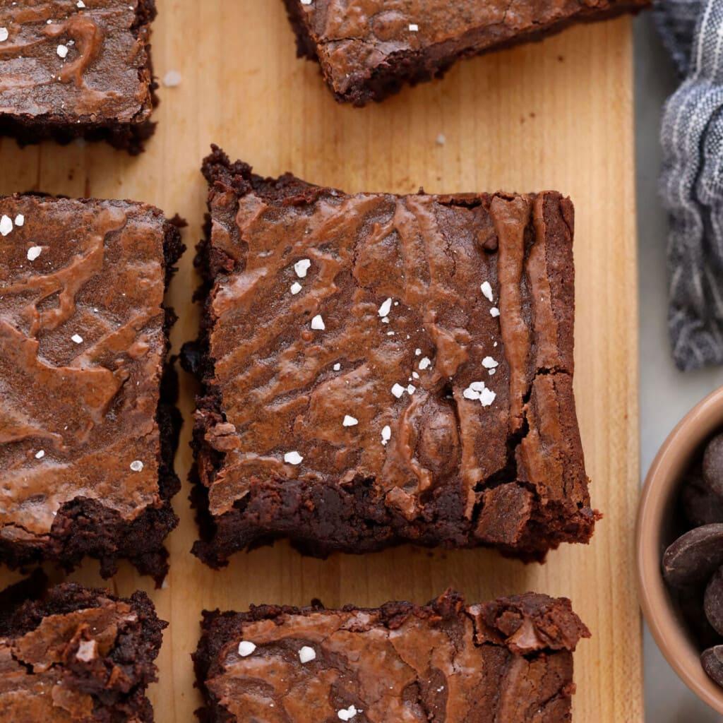 brownies on cutting board