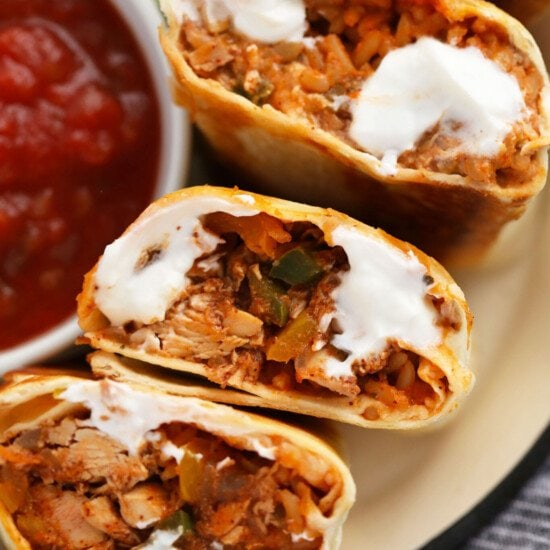 shredded chicken burritos