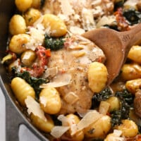 tuscan creamy chicken and gnocchi