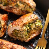 broccoli and cheese stuffed chicken breast