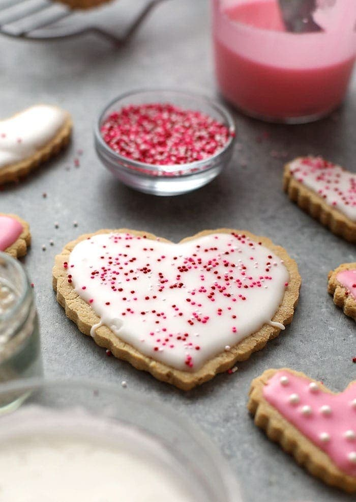 sugar cookies on counter