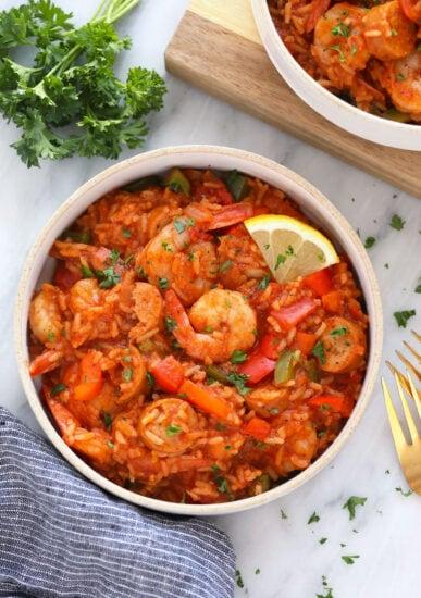 Jambalaya in a bowl.