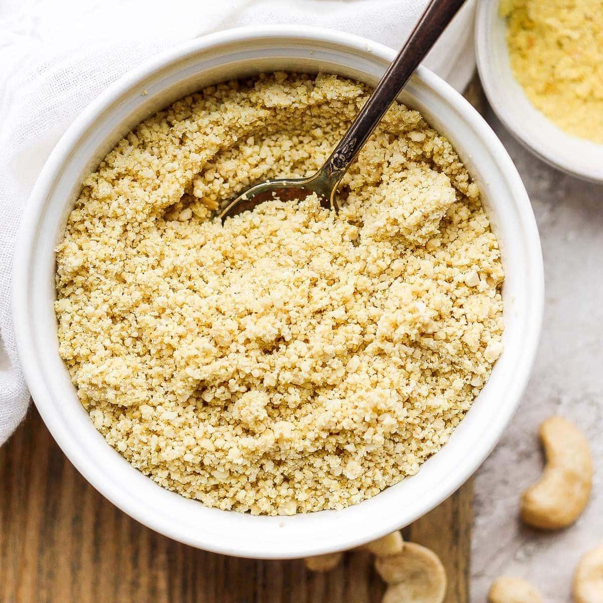 Vegan Parmesan Cheese (5 ingredients!) – Fit Foodie Finds