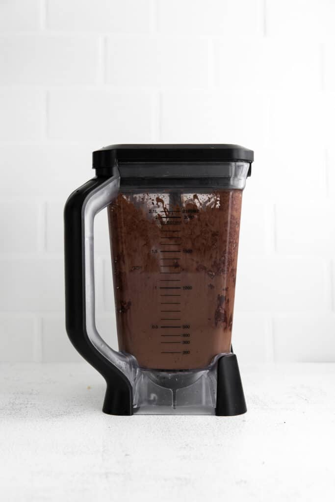 chocolate smoothie blended in blender