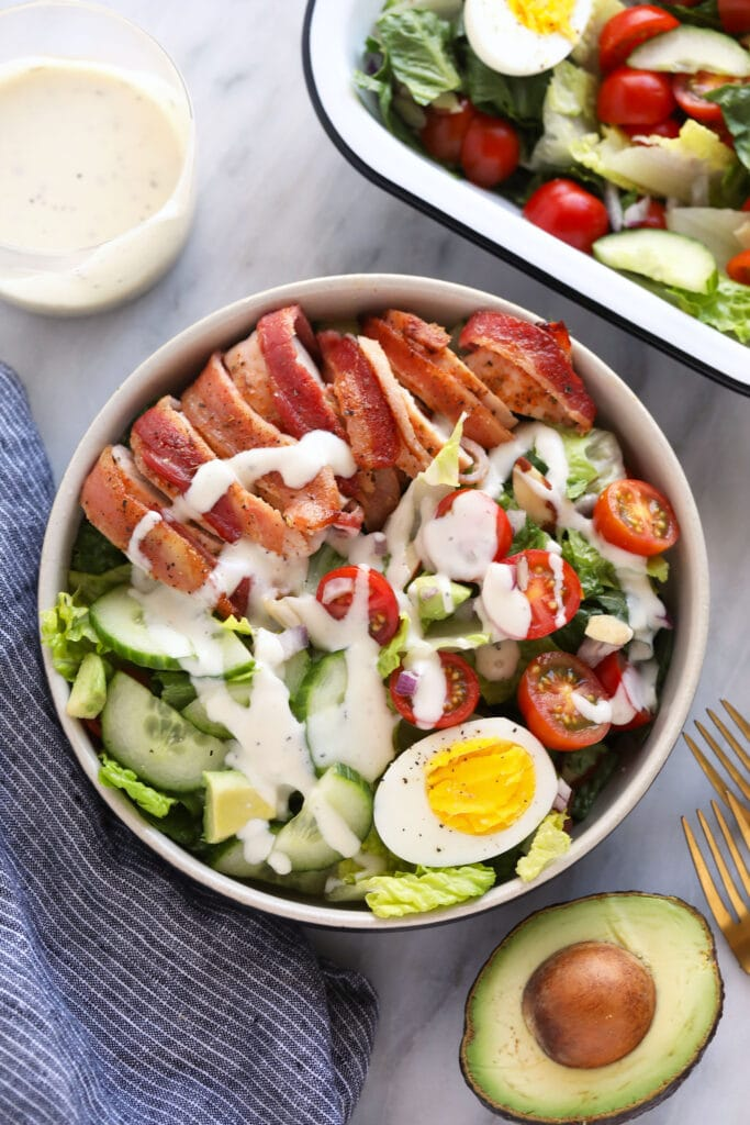 chicken salad  with ranch dressing