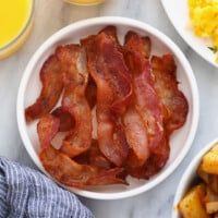 bacon on plate