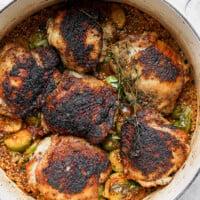 chicken thighs in Dutch oven