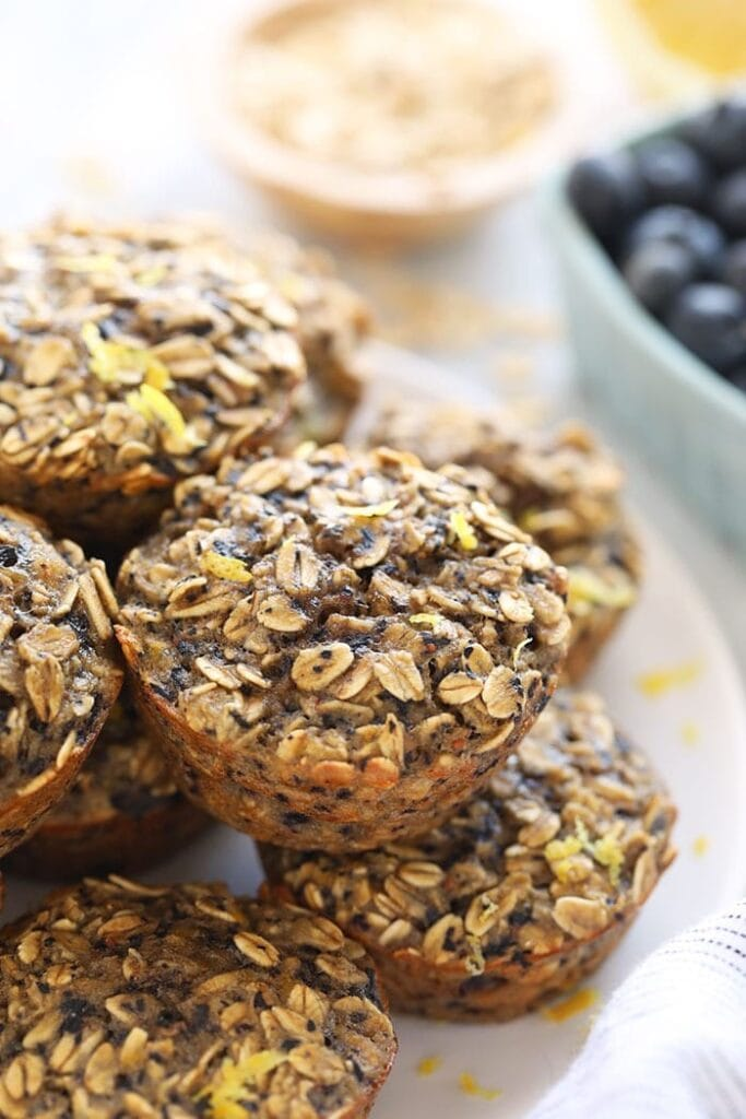 oatmeal muffin cups on plate