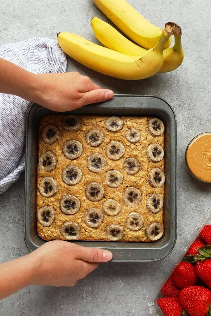 baked oatmeal with banana