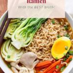 Ramen in a ramen bowl.