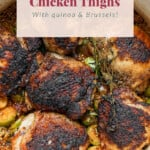 crispy Dutch oven chicken thighs