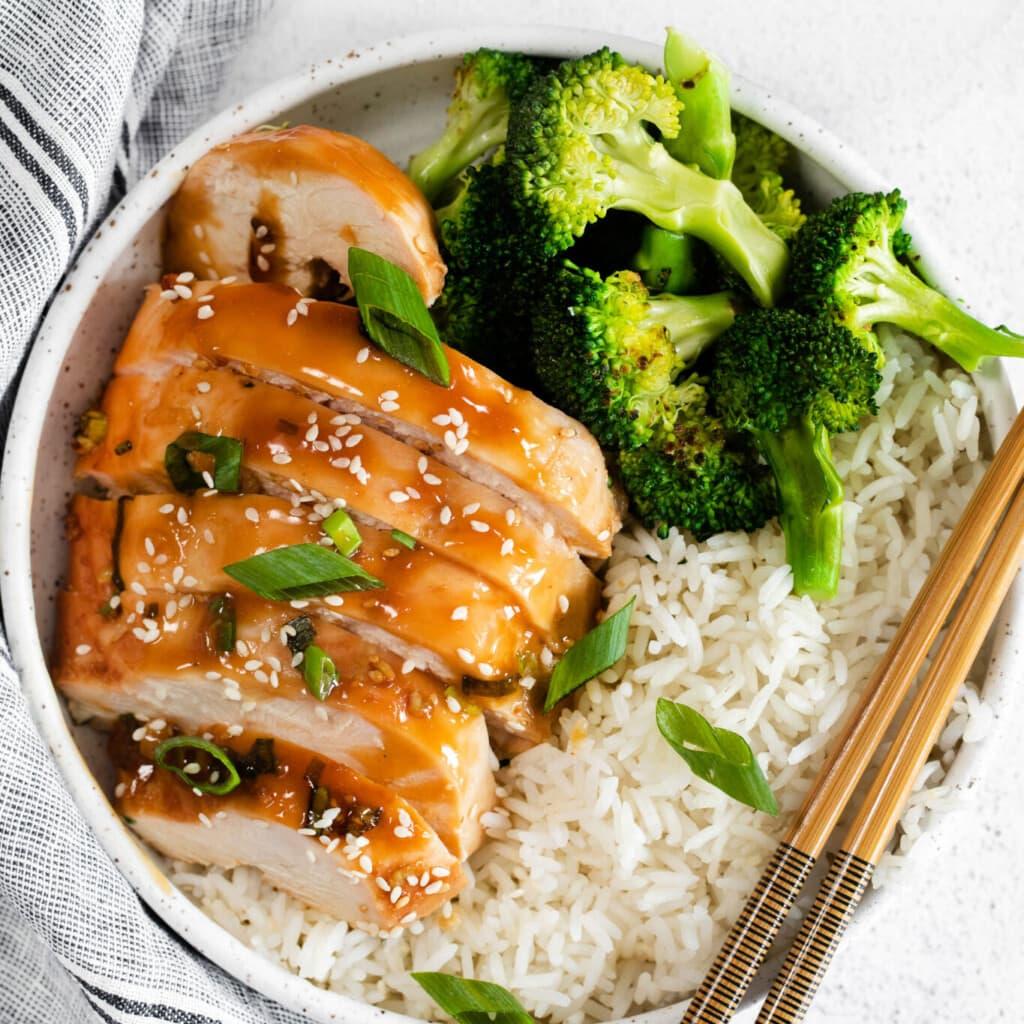 teriyaki chicken on plate