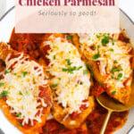 chicken parmesan in dish