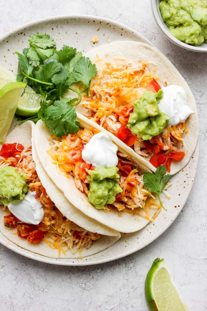 chicken tacos on plate