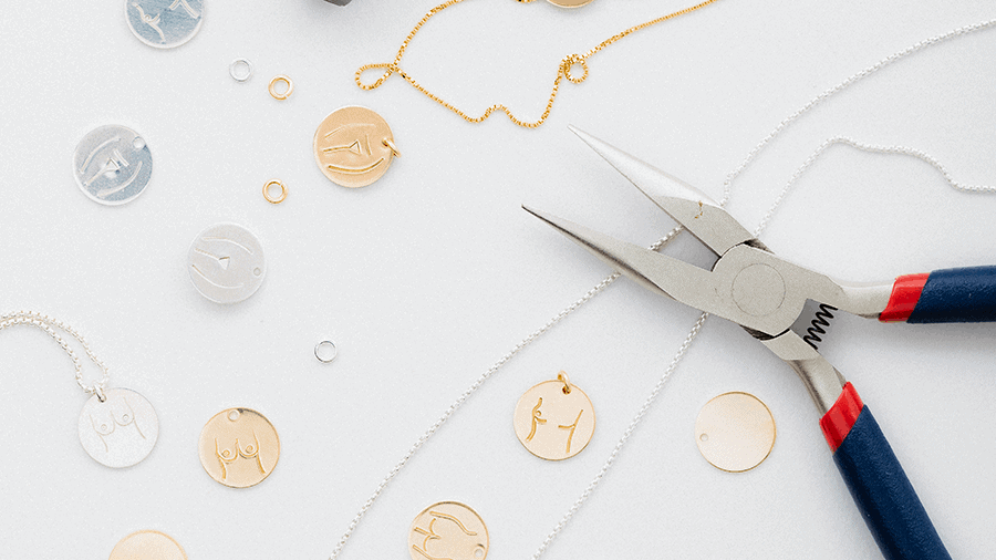 A flat lay of jewelry.