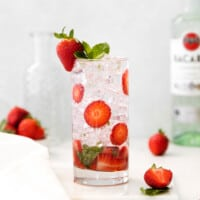 strawberry mojito in glass